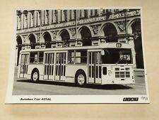 Photo Ancienne Auto bus FIAT 421 AL 1973 car prospekt truck LKW prospectus