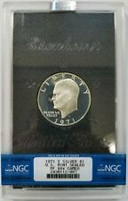 1971 S Eisenhower IKE NGC PF 68 STAR CAM CAMEO SILVER Dollar DMPL PL PR Coin