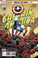 Captain America #695 Marvel Legacy NM 2017 1st Print