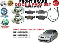 Para BMW 3 E46 Compacto 98-05 Juego de Discos Freno Delantero + Pastillas Kit +