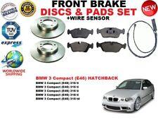 Pour BMW 3 E46 Compact 98-05 Frein avant Ensemble Disques + Pad + Kit Fil