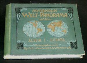 MYRRHOLIN Welt-Panorama Album I EUROPA 1902 Sammelbilder-Album 1 ==> RAR !!!