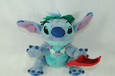 Disney Store Stitch Plush Stuffed Animal Toy Lei Red Aloha Envelope 9.5 Inches