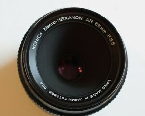 KONICA 55MM F3.5 MACRO HEXANON WITH MACRO ADAPTER AND CASE