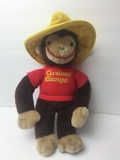 Curious George By GUND 1941, 1990 Yellow Hat Stuffed Plush Monkey 13""