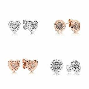 Damen für 2PANDORA Ohrstecker Herzen Ohrringe 925 Silber Mode Ohrringe heiß gift