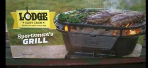 Lodge Cast Iron Sportsman's Grill Brand New in Box NEVER USED