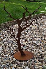 Edelrost Baum auf Platte Garten Terrasse Äste Metall Dekoration Rost Landhaus