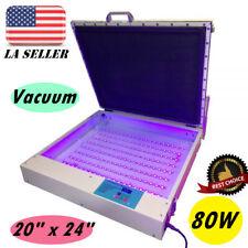 Tabletop 110v 20 X 24 Vacuum Led Uv Exposure Unit 80w Precise Screen Printing