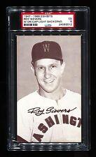 1947-66 EXHIBITS ROY SIEVERS W ON CAP LIGHT BACKGROUND SENATORS PSA 5 RARE!