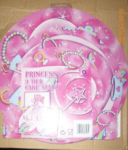 PRINCESS 3 TIER CAKE STAND NEW