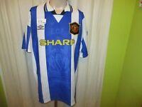"""Manchester United Original umbro Ausweich Trikot 1994-1996 """"SHARP"""" G.XL TOP"""