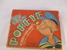 Vintage 1937 King Features Syndicate Inc Popeye Playing Card Game