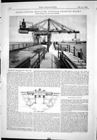 Old Print 1888 Block-Setting Hercules Douglas Harbour Works Stothert Pitt 19th