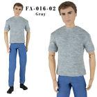 ELENPRIV FA-016-02 gray T-shirt w/short sleeves for Ken Fashionista male dolls