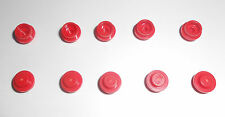 LEGO 1x1 Round Flat Tiles Red 614121---Lot of 10