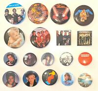 "CHOOSE: Vintage Rock 'N Roll 1 7/16"" - 2 1/8"" Pinback Pin * Combine Shipping!"