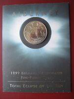 Alderney 2009 £5 Pounds BUNC Coin Total Eclipse of the Sun in Royal Mint folder