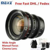 Meike 12mm T2.2 Wide Angle Manual Focus Cinema Lens for Olympus Panasonic M43
