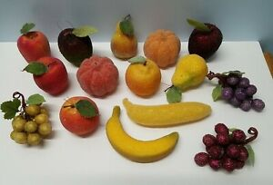 15 Vintage Sugar/Beaded Life Size Fruit Décor