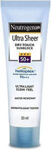 Neutrogena Ultra Sheer Dry Touch Sunblock SPF 50+ Sunscreen For Women & Men,30ml