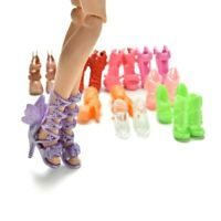 """12 Pairs Doll High Heels Shoes Fashion Accessories Different Boots for 11.5""""-12"""""""