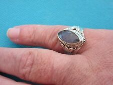 925 Sterling Silver Ring With Marquis Cut Labradorite UK O US 7.25 (rg2771)