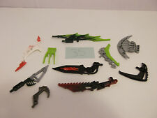 lego lot of 10 Mixed Bionicle Weapons Swords Blades Staff Silver Lime Red lot 35