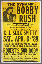 BOBBY RUSH original blues concert poster ROBERT'S 500 Chicago 1989