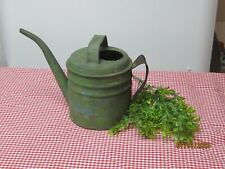 Antique green watering can ~ Primitive - Farmhouse Look