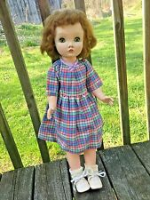 "Vintage Hard Plastic Madame Alexander Doll-Walker-24"" Tall"