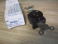 General Electric GE4182-2 Single Receptacle Brown (Pack of 3)
