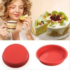 """6"""" Round Silicone Cake Mold Pan Muffin Pizza Pastry Bread Baking Tray Mould LG"""
