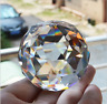 Clear Cut Crystal Sphere 50mm Faceted Gazing Ball Prisms Suncatcher Home Decor A