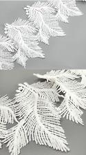 White Embroidered 13cm Feather Trim Tassel Fringe DIY Lace Craft Price per 30cm