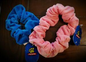 Top Paw Scrunchie Neckwear Collar Pink & Blue