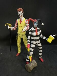 Joker And Harley Quinn Custom Figures-ronald Mcdonald Hamburgler Look Ooak