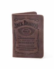 OFFICIAL JACK DANIELS LABEL DEBOSSING BROWN LEATHER BI-FOLD WALLET/ CARD HOLDER