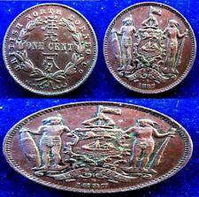 British North Borneo - 1887 H - Cent - XF - KM# 2