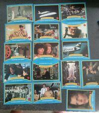 Original 1979 James Bond Moonraker Lot of 16 Trading Cards