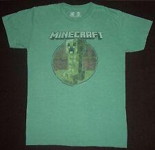 MINECRAFT T-shirt ADULT size SMALL Mojang Jinx, Green short sleeve, vintage look