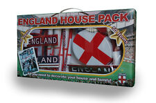 ENGLAND HOUSE PACK *FLAG* 50 ITEMS  **NEW** HATS BUNTING HORNS BALLOONS!