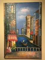 oil painting landscape Venice Italy