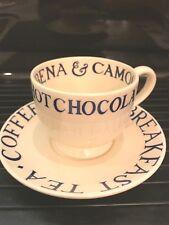 Emma Bridgewater Blue Toast& Marmalade Large Teacup& Saucer.