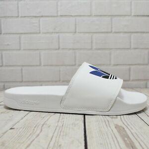 Mens Adidas Adilette Lite White Slip On Slides Sandals RRP. £25.00