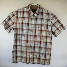 Mens S/S Shirt Colorado Check Plaid Size XL Cotton