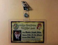 Harry Potter ID Badge - Gryffindor House Ron Weasley cosplay prop costume