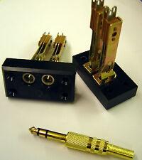 "M641/3-1 (2 pcs) SwitchCraft 1/4"" 6.35mm Dual Stereo Jack Female Socket"