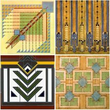 Frank Lloyd Wright RUG DESIGNS Set of Four Absorbent Coasters by CoasterStone