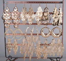 12pairs Wholesale Jewelry lots Mixed Style Gold Plated Fashion Dangle Earrings